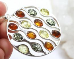 Natural Baltic Amber Sterling Silver Pendant code GI 1313