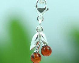 Natural Baltic Amber Sterling Silver Charm code GI 1344