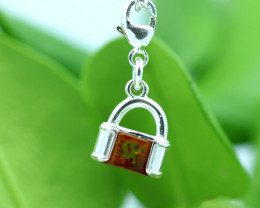 Natural Baltic Amber Sterling Silver Charm code GI 1353