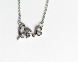 Love sign  Necklace Silver 925