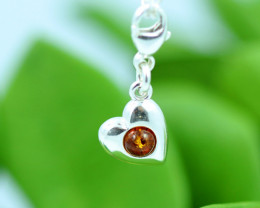 Natural Baltic Amber Sterling Silver Charm code GI 1366