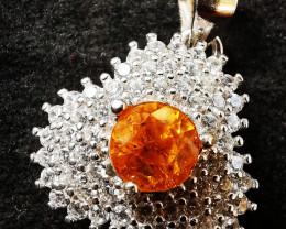 Silver Garnet Pendants