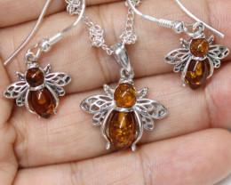 Natural Baltic Amber Jewellery Set   code GI 1435