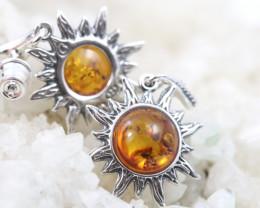 Natural Baltic Amber Earrings    code GI 1451