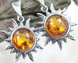 Natural Baltic Amber Earrings   code GI 1452