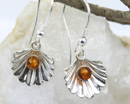 Natural Baltic Amber Earrings    code GI 1456