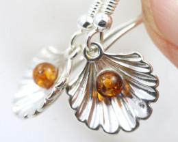 Natural Baltic Amber Earrings   code GI 1457