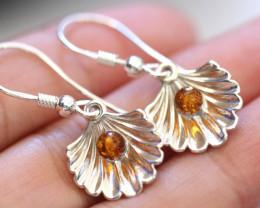 Natural Baltic Amber Earrings    code GI 1458