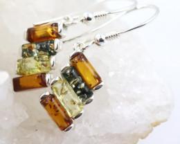 Natural Baltic Amber Earrings   code GI 1463