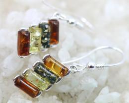 Natural Baltic Amber Earrings   code GI 1464
