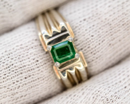 36.25 Ct Silver Ring ~With AAA Clarity Swat Emerald ~Ring