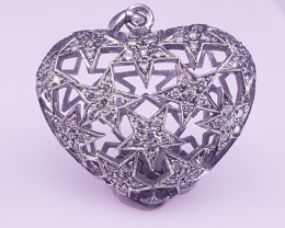 Natural Marcasite And 925 fine Silver Pendant