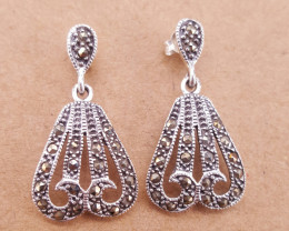 New design Natural Marcasite Earrings.