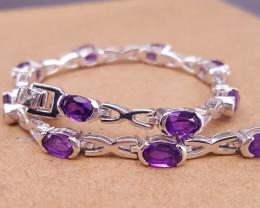 Natural Amethyst  Attractive Bracelet