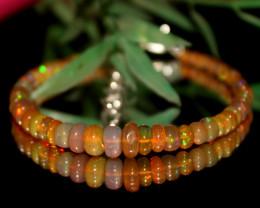 21 Crts Natural Ethiopian Welo opal bracelet 338