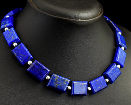 Genuine 465.00 Cts Lapis Lazuli Beads Necklace