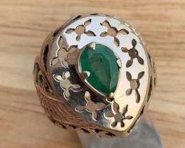 Beautiful Natural Emerald Ring.