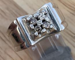 Natural Diamond Ring TCW  0.25