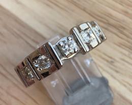 Natural Diamond  Ring TCW  0.95