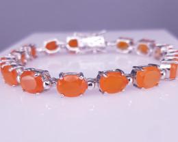 Natural Orange Opal Bracelet