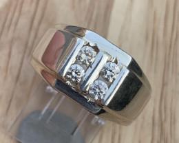 Natural Diamond Gents Ring TCW 0.44