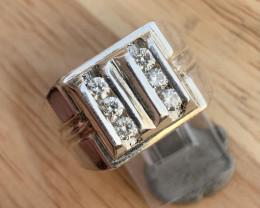 Natural Diamond Ring TCW  0.54