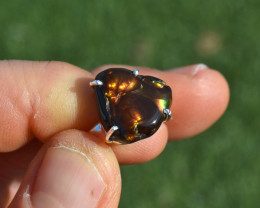 Fire Agate Ring in Sterling Silver