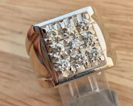 Natural Diamond  Ring TCW  0.73
