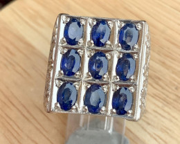 Hand crafted Natural Sapphire Ring .