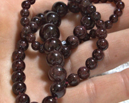 219.0 Tcw. Natural African Garnet Necklace - 17.5 inches