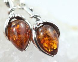 Natural Baltic Amber Earrings   code GI 1749