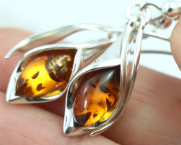 Natural Baltic Amber Earrings   code GI 1700