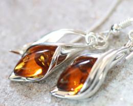Natural Baltic Amber Earrings   code GI 1701