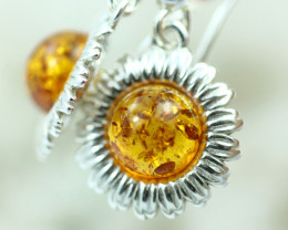 Natural Baltic Amber Earrings   code GI 1706