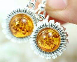 Natural Baltic Amber Earrings   code GI 1707