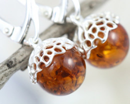 Natural Baltic Amber Earrings   code GI 1711