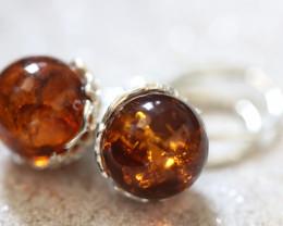 Natural Baltic Amber Earrings   code GI 1712