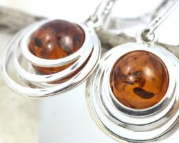 Natural Baltic Amber Earrings   code GI 1716