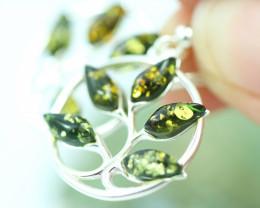 Natural Green Baltic Amber Earrings   code GI 1724