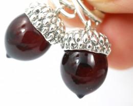 Natural Dark Baltic Amber Earrings   code GI 1734