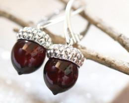 Natural Dark Baltic Amber Earrings   code GI 1735