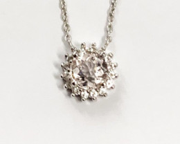 Natural Morganite And Topaz ~ Silver Necklace