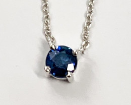 *NoReserve* Natural Blue Sapphire ~ Silver Necklace