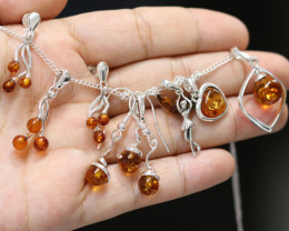 Natural Baltic Amber Jewellery Set code GI 1756