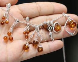 Natural Baltic Amber Jewellery Set code GI 1757