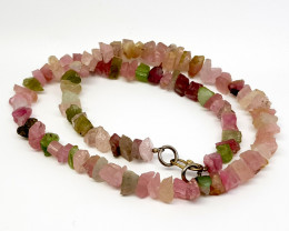 Natural Pink Tourmaline Necklace 184.00 Carats