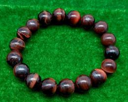 Natural Red Tiger Eye Bracelet 142.00 Carats