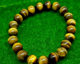 Natural Brown Tiger Eye Bracelet 155.00 Carats