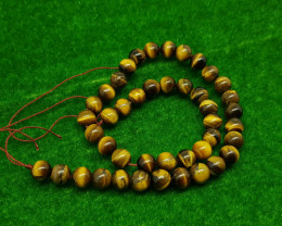 Natural Brown Tiger Eye Beads 250.00 Carats