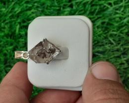 Natural Herkimer Diamond Quartz 925 Silver Pendant